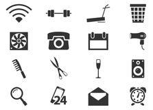 Geplaatste de pictogrammen van de hotelruimte Royalty-vrije Stock Foto's