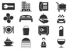 Geplaatste de pictogrammen van de hotelruimte Stock Foto
