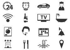 Geplaatste de pictogrammen van de hotelruimte Royalty-vrije Stock Foto