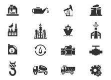 Geplaatste de pictogrammen van de industrie Royalty-vrije Stock Foto's