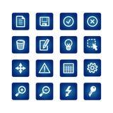 Geplaatste de pictogrammen van de interface Stock Foto's