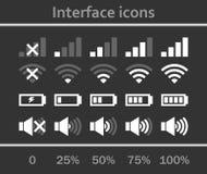 Geplaatste de pictogrammen van de interface Royalty-vrije Stock Afbeelding