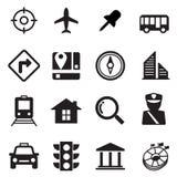 Geplaatste de pictogrammen van de kaart Royalty-vrije Stock Foto