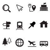 Geplaatste de pictogrammen van de kaart Royalty-vrije Stock Foto's