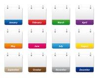 Geplaatste de pictogrammen van de kalender Royalty-vrije Stock Afbeeldingen