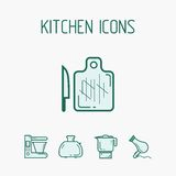 Geplaatste de pictogrammen van de keuken Royalty-vrije Stock Foto