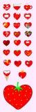 Geplaatste de pictogrammen van de liefde Royalty-vrije Stock Afbeeldingen