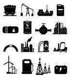 Geplaatste de pictogrammen van de machtsenergie Royalty-vrije Stock Afbeeldingen