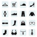 Geplaatste de pictogrammen van de manier Stock Foto