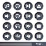 Geplaatste de pictogrammen van de muziek Royalty-vrije Stock Foto