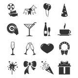 Geplaatste de pictogrammen van de partijtijd Royalty-vrije Stock Afbeeldingen