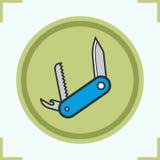 Geplaatste de pictogrammen van de pennemeskleur Stock Fotografie