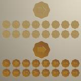 Geplaatste de pictogrammen van de pijl Royalty-vrije Stock Fotografie