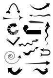 Geplaatste de pictogrammen van de pijl Royalty-vrije Stock Afbeeldingen