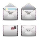 Geplaatste de pictogrammen van de post royalty-vrije stock foto's