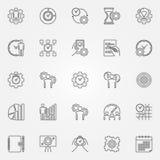 Geplaatste de pictogrammen van de productiviteitslijn Royalty-vrije Stock Foto's