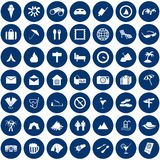 Geplaatste de pictogrammen van de reis vector illustratie