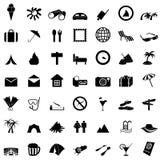 Geplaatste de pictogrammen van de reis Royalty-vrije Stock Afbeelding