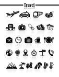 Geplaatste de pictogrammen van de reis Royalty-vrije Stock Afbeeldingen