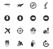 Geplaatste de pictogrammen van de reis Royalty-vrije Stock Foto