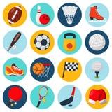 Geplaatste de pictogrammen van de sport Stock Afbeelding