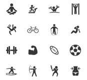 Geplaatste de pictogrammen van de sport Royalty-vrije Stock Fotografie