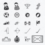 Geplaatste de pictogrammen van de sport Illustratie Stock Afbeelding