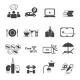 Geplaatste de pictogrammen van de sportclub Royalty-vrije Stock Foto