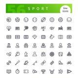 Geplaatste de pictogrammen van de sportlijn Royalty-vrije Stock Afbeelding