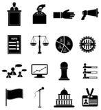 Geplaatste de pictogrammen van de verkiezingsstem Stock Afbeelding