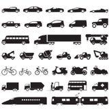 Geplaatste de pictogrammen van de vervoersauto Stock Afbeelding