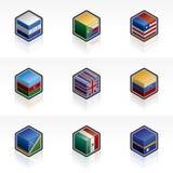 Geplaatste de Pictogrammen van de vlag - Elementen 56m van het Ontwerp Royalty-vrije Stock Fotografie