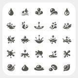 Geplaatste de pictogrammen van de waterdaling Royalty-vrije Stock Afbeelding