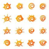 Geplaatste de pictogrammen van de zon Royalty-vrije Stock Fotografie