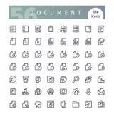 Geplaatste de Pictogrammen van de documentlijn stock illustratie