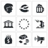 Geplaatste de pictogrammen van Duitsland Stock Fotografie