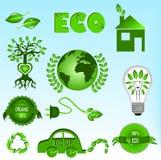 Geplaatste de pictogrammen van Eco Royalty-vrije Stock Afbeeldingen