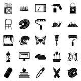 Geplaatste de pictogrammen van de Ecoactivist, eenvoudige stijl Stock Foto's