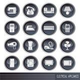 Geplaatste de pictogrammen van elektrisch apparaten Stock Foto