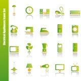 Geplaatste de pictogrammen van elektrisch apparaten Royalty-vrije Stock Foto's