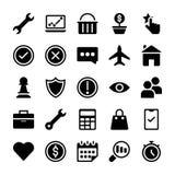 Geplaatste de pictogrammen van de elektronische handel stock illustratie