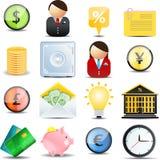Geplaatste de pictogrammen van financiën Royalty-vrije Stock Afbeelding