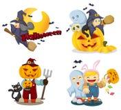 Geplaatste de pictogrammen van Halloween Royalty-vrije Stock Foto