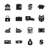 Geplaatste de pictogrammen van het bankwezen Royalty-vrije Stock Afbeeldingen
