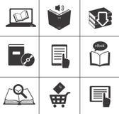 Geplaatste de pictogrammen van het boek. Royalty-vrije Stock Foto