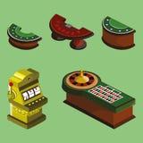 Geplaatste de pictogrammen van het casino Stock Foto