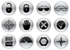 Geplaatste de pictogrammen van het gadget. Stock Afbeeldingen