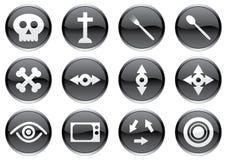 Geplaatste de pictogrammen van het gadget. Stock Fotografie