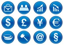 Geplaatste de pictogrammen van het gadget. Stock Foto