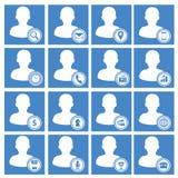 Geplaatste de Pictogrammen van het gebruikersweb Stock Fotografie